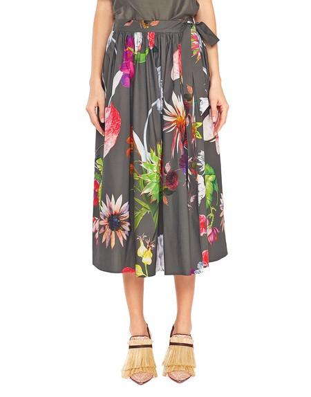 Falda de algodón con estampado de flores