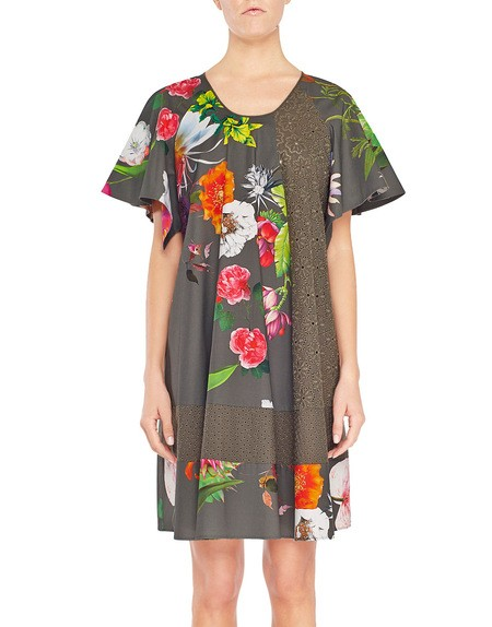 Vestido de algodón con estampado de flores