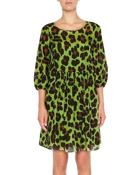 Kleid aus Seide mit Animal-Print