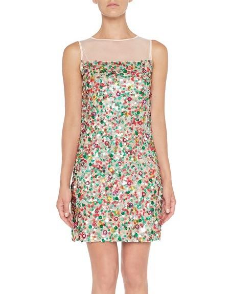 Kleid aus Tüll mit Paillettenstickerei
