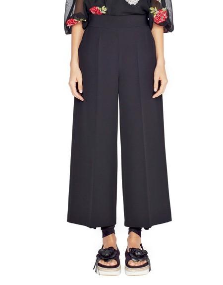 Pantalón cropped de cintura alta
