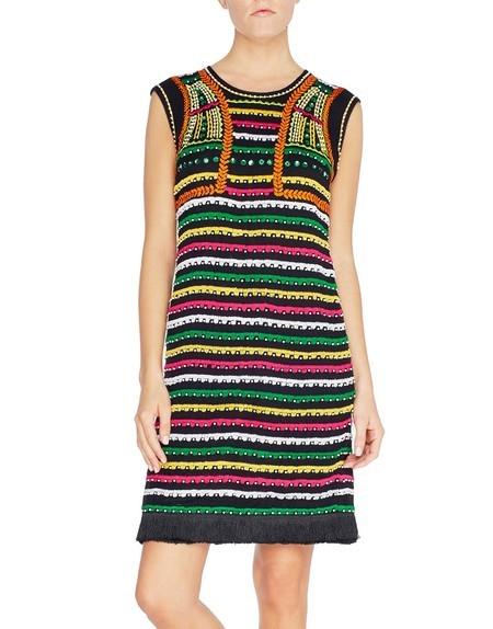 Kleid aus Viskose mit ethnischen Motiven