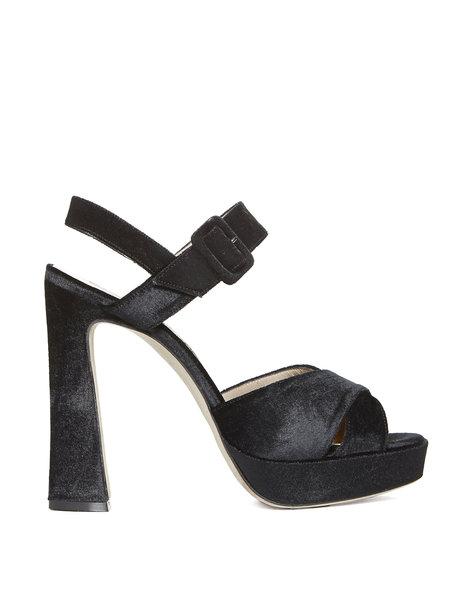 Sandale Aus Samt