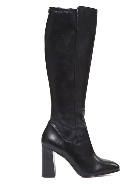 Leather Boot With Zip