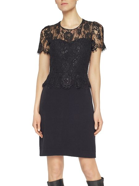 Dress With Lurex Lace