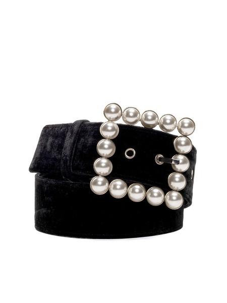 Cinturón De Terciopelo - Negro