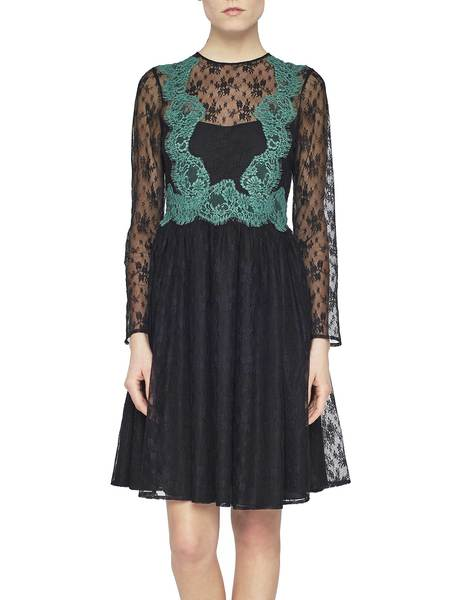 Dress With Contrast Lace
