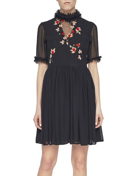 Chiffon Dress With Embroidery