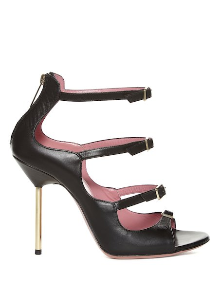 Sandals with an ankle strap and stiletto heel