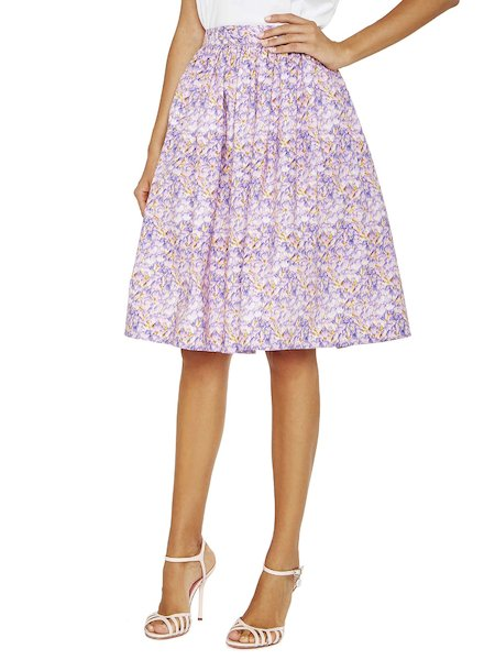 Printed violet skirt