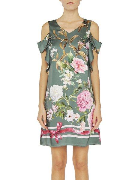 Kleid Mit Blumen-Print | Blumarine Shop Online
