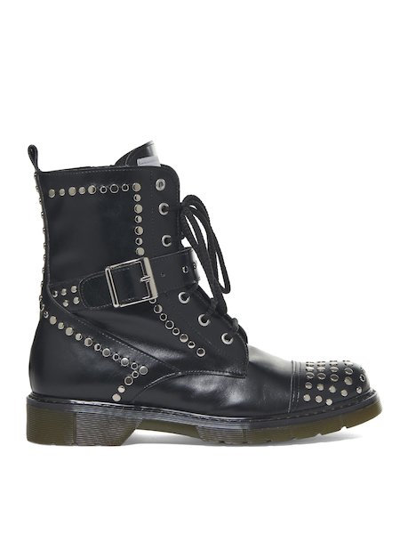 Army boots with studs - Black