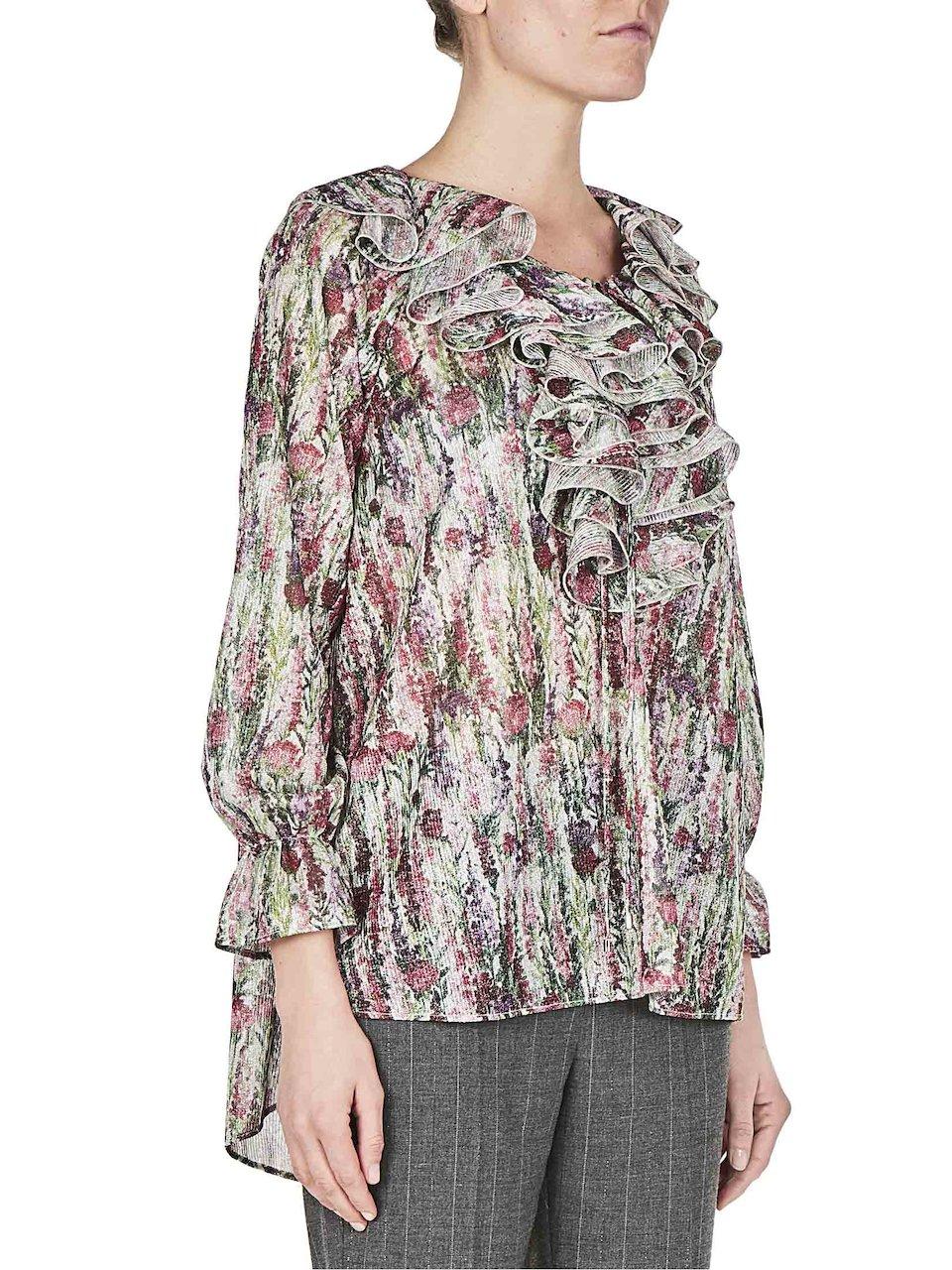 Shop Online Blumarine Flores De Blusa Estampado Con wqXYF10
