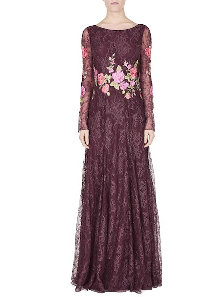 Dress in lace with roses - Purple