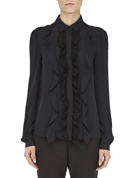 Shirt with ruffles and flounces