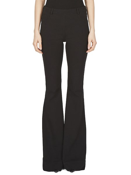 Bell-bottom trousers in jersey