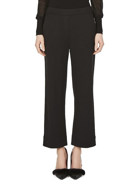 Cropped trousers in jersey