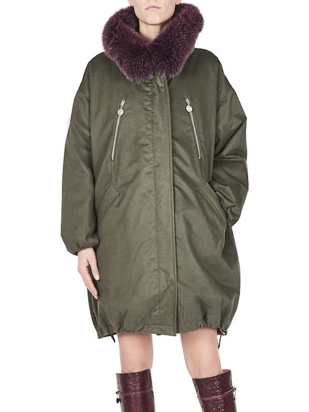Long parka with fox fur hood