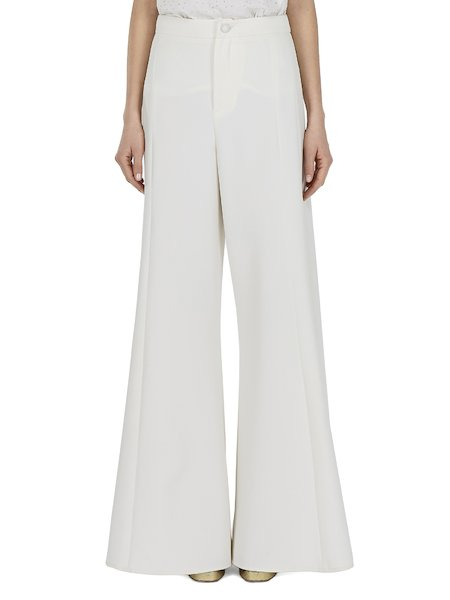 Palazzo trousers with pleats