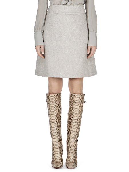 Tweed skirt - white
