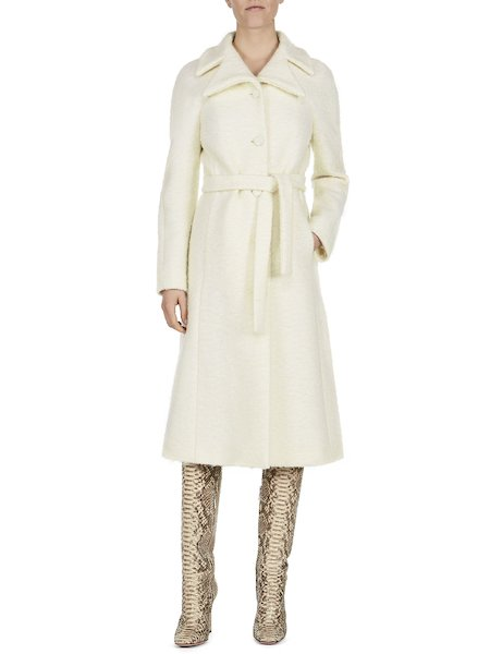 Overcoat with belt - white