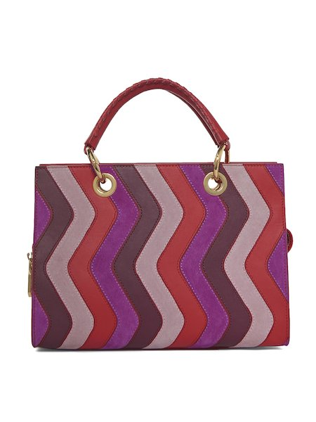 Handbag with handles in multicolour leather