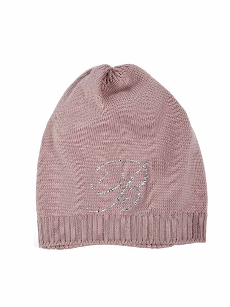 Cappello Con Logo in Strass - Rosa