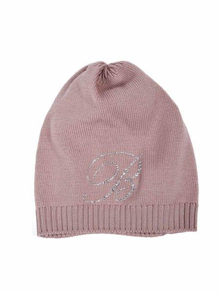 Hat with rhinestone logo