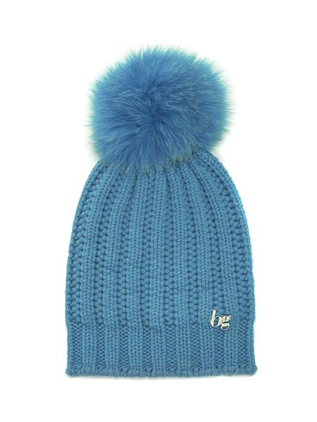 Wool hat with pompom