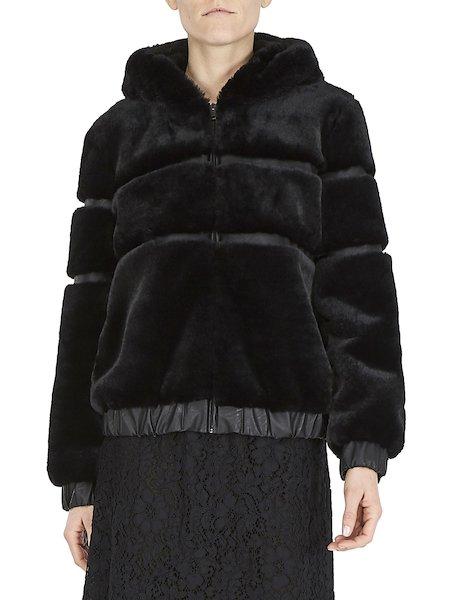 Bomber in faux fur - Black