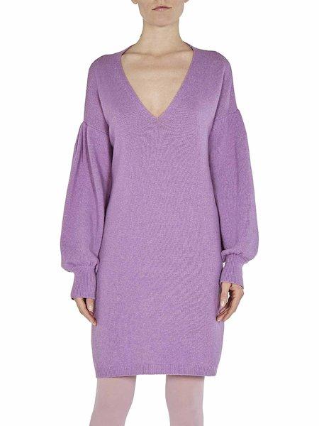 Вязаное платье - розовый