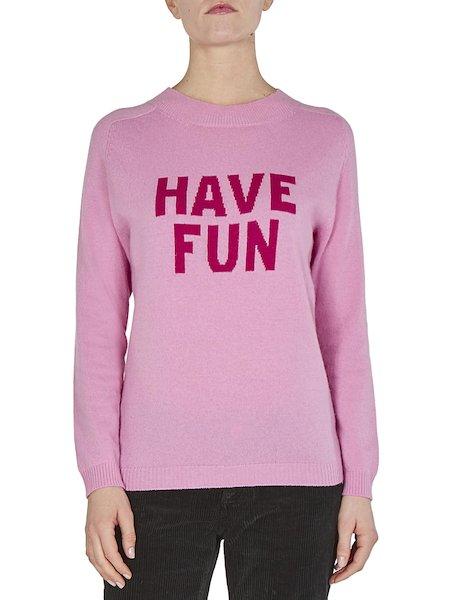 Sweater with intarsia Have Fun