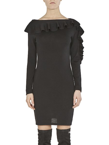 Dress with ruffles - Black
