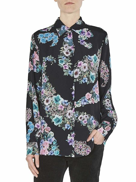 Bluse mit Blumenmuster und Volant