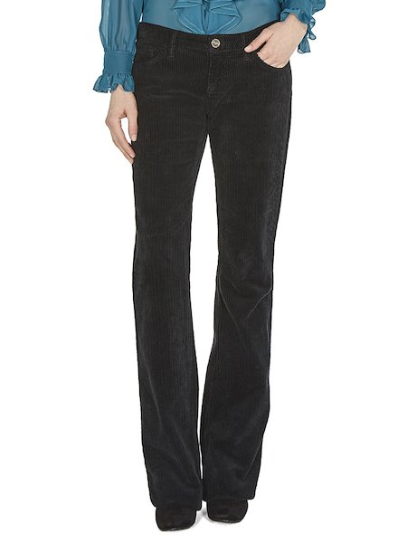 Bell-bottom corduroy trousers
