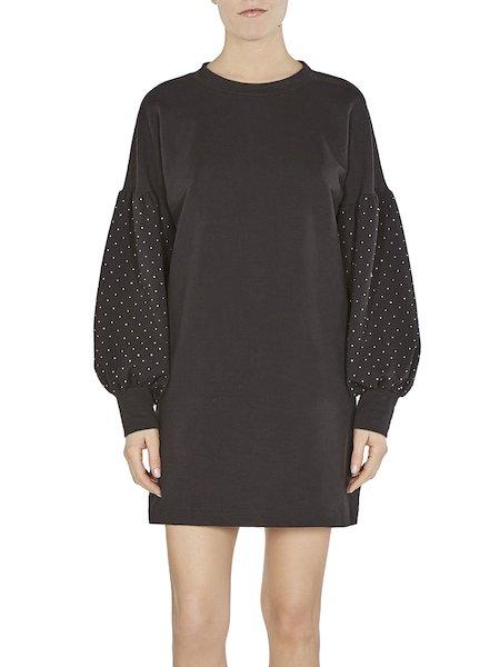 Dress in fleece with tiny studs