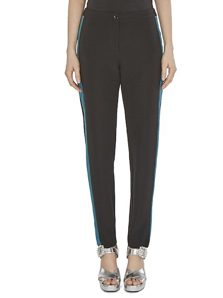 Trousers with lateral band - Black