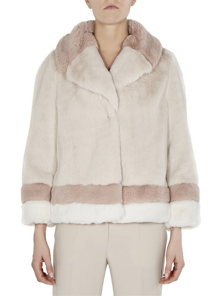 Car coat in faux fur