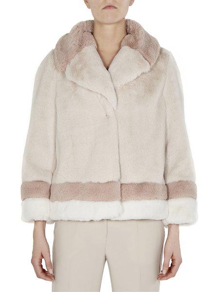 Car coat in faux fur
