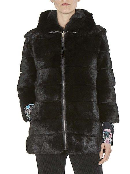 Long reversible fur coat