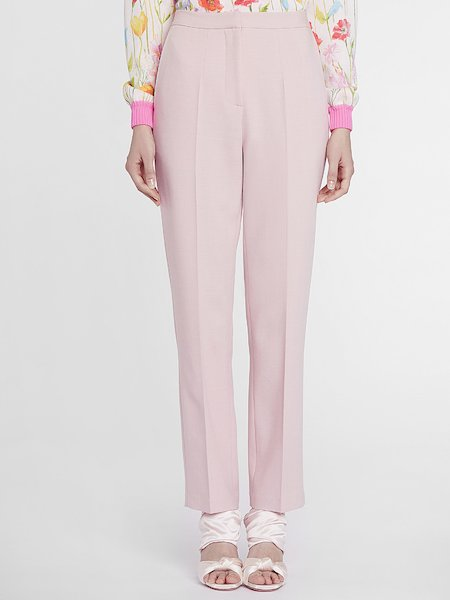 Cigarette-leg suit trousers