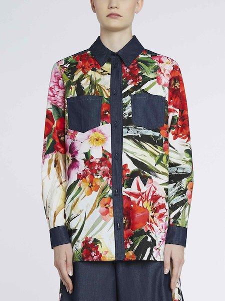 Camisa vaquera con estampado