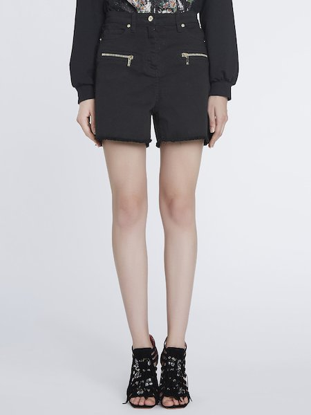 Shorts in Jeans - Nero