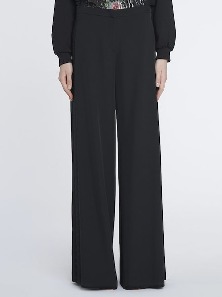 Palazzo trousers with lace