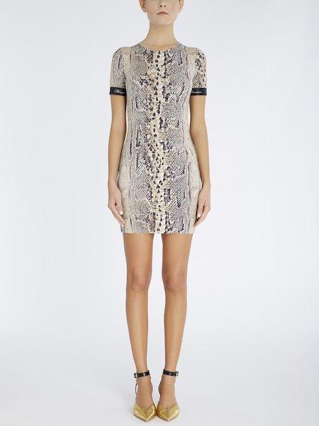 Платье с питоновым принтом
