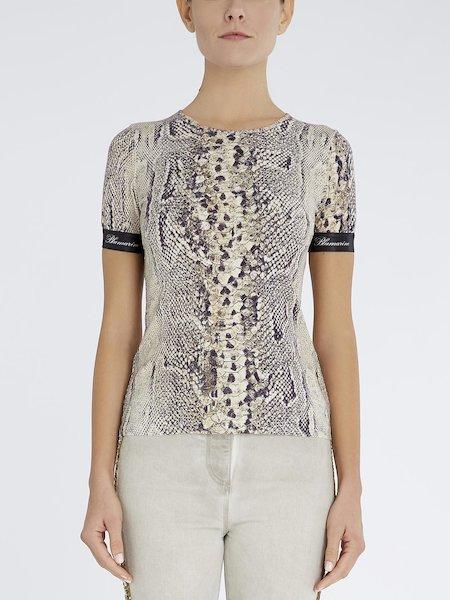 Snakeskin-print T-shirt
