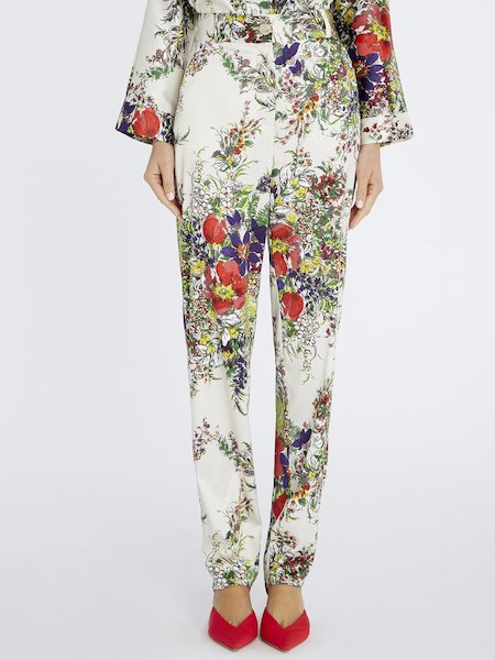 Floral-print trousers - Multicolored