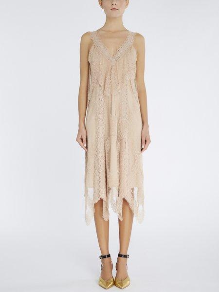 Платье из расшитого гладью тюля