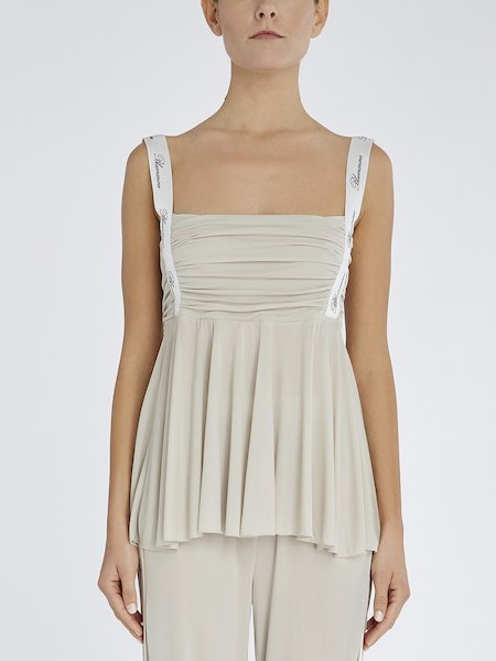 Top with pleated bodice