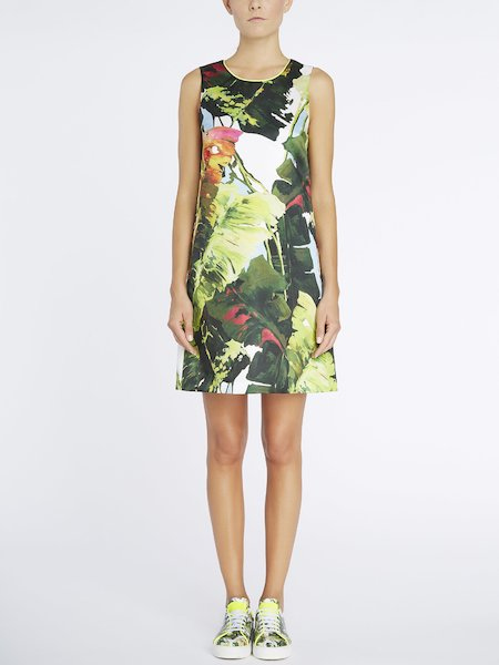 Dress with tropical print